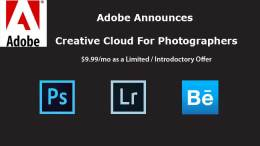 Adobe Creative Cloud For Photographers